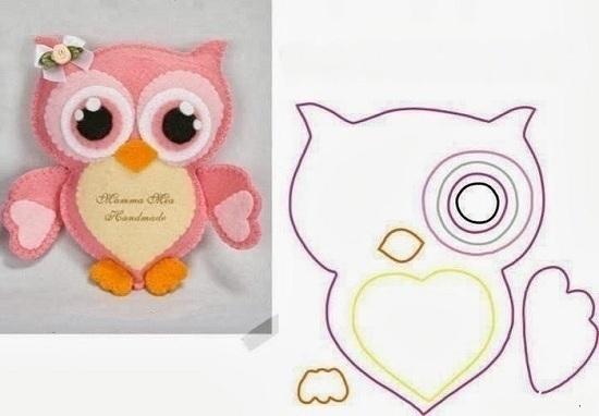 Поделка из фетра для детского сада: сова