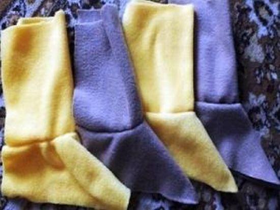 Вырезаем пару войлочных прокладок без припуска