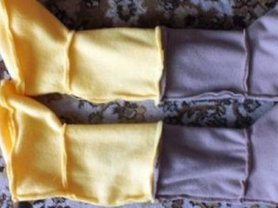 Сшиваем внешнюю и внутреннюю сторону тапочек