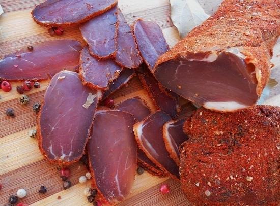 Луканка свиная - домашняя сухая колбаса - приготовление сухой 67