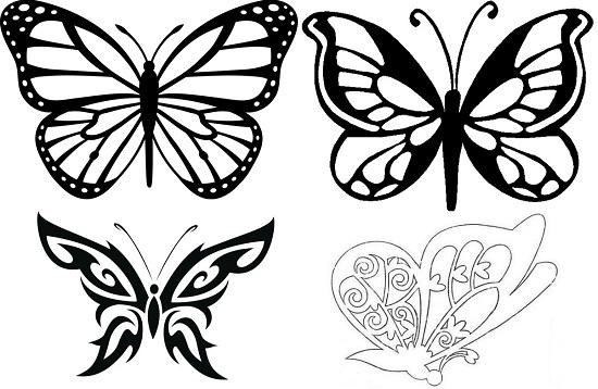 Бабочки из бумаги на стену своими руками: шаблоны