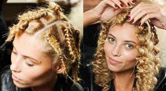 Как сделать волнистые волосы с помощью косичек?