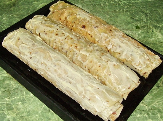 лавашный лист с начинкой