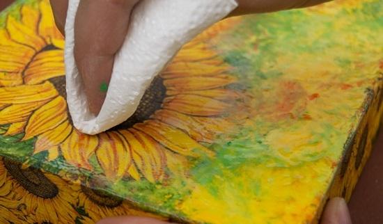 Удалить излишки краски