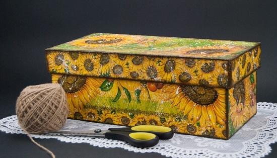 Декорирование коробок из-под обуви: шкатулка своими руками
