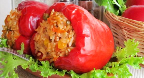 Овощной фаршированный перец рецепт