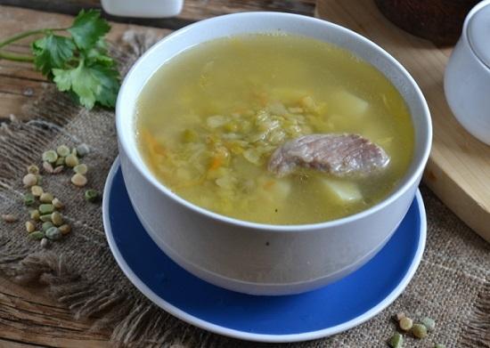 Гороховый суп с мясом рецепт пошаговый