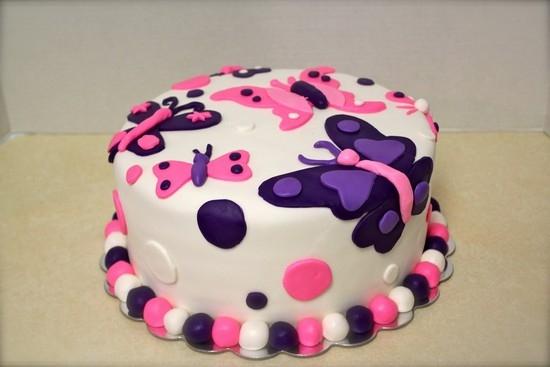 Тортик из мастики для девочки