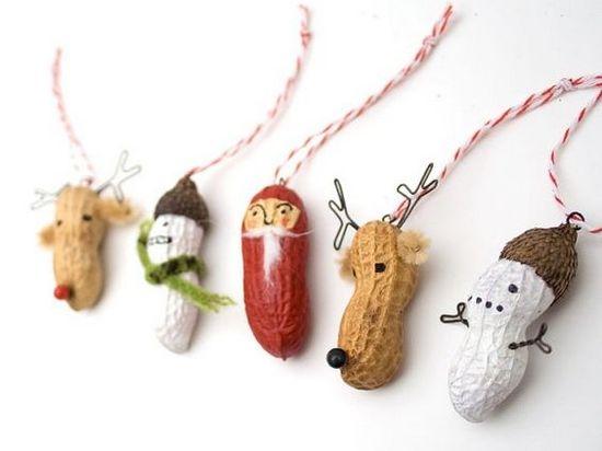 Съедобные украшения на елку из арахиса