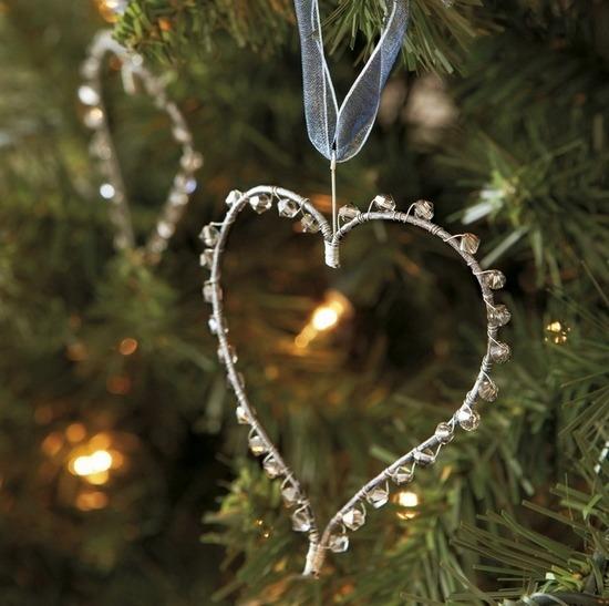 сердечко из проволоки на елку