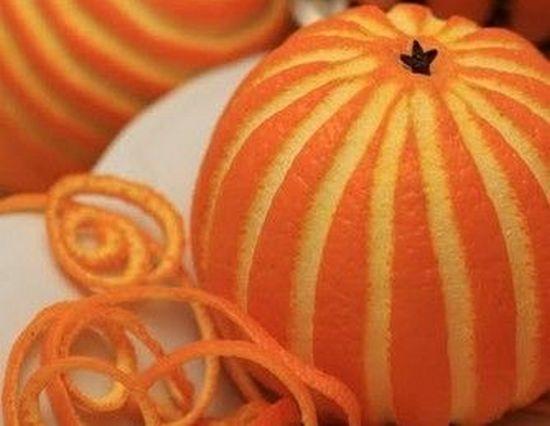 Съедобные украшения на елку из апельсинов