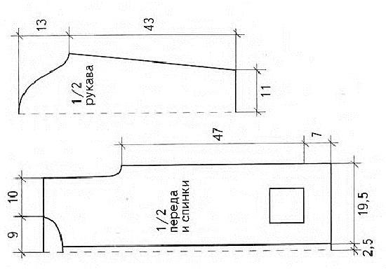 Схема вязания такого оригинального, но в то же время простого кардигана