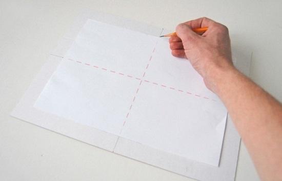Разметку нанесем пунктирной линией