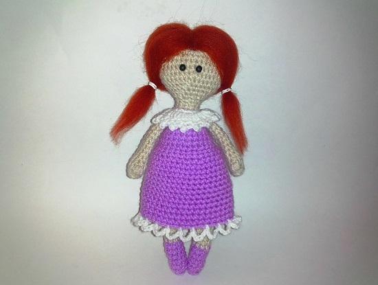 начнем с вязания куклы амигуруми крючком