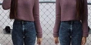 Луки с джинсами с завышенной талией
