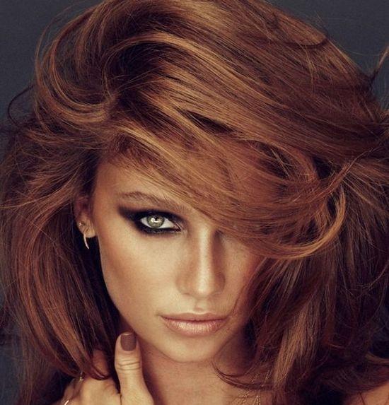 Макияж для цвета волос лесной орех