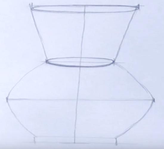 как нарисовать вазу