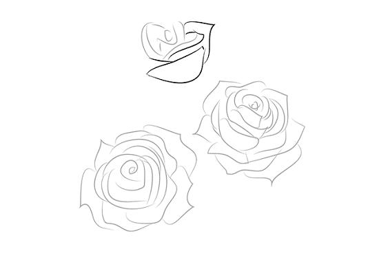 как нарисовать вазу с розами - бутоны