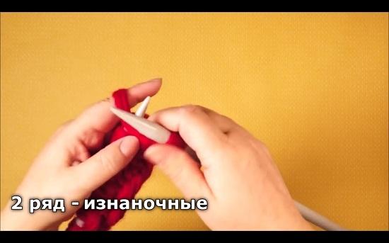 Шапка спицами из толстой пряжи: пошагово