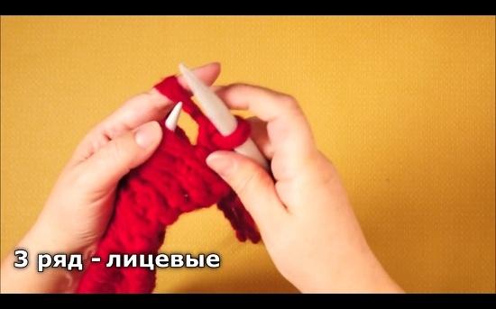 Шапка спицами из толстой пряжи: схема вязания на спицах