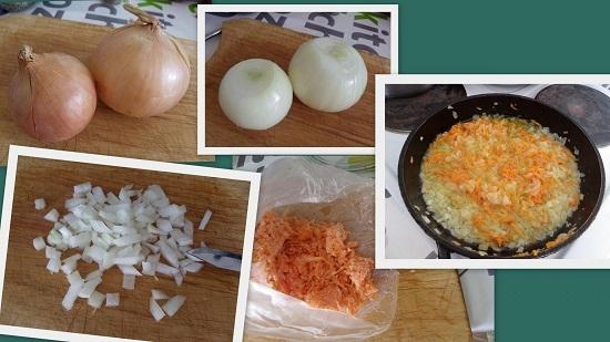 пассеруем морковно-луковую смесь