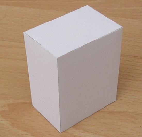 Как сделать параллелепипед из бумаги