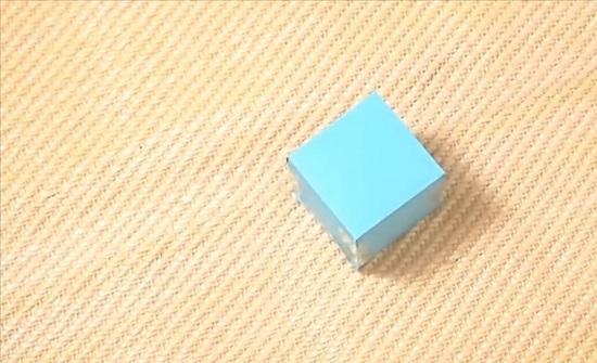 оригинальные кубики из бумаги