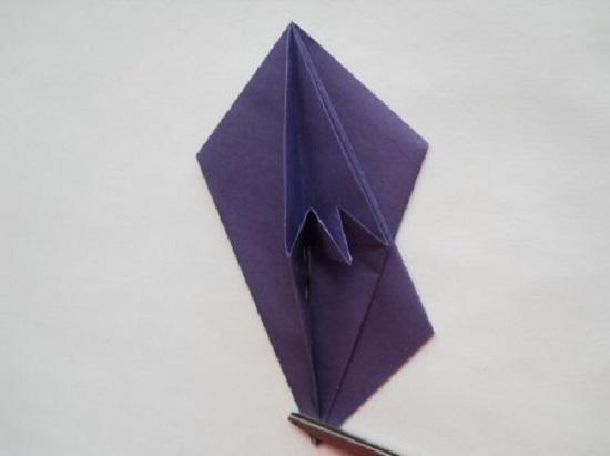треугольник еще раз загибаем