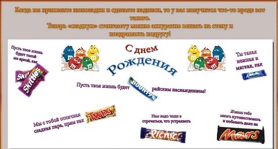 Плакат с днем рождения своими руками со сладостями