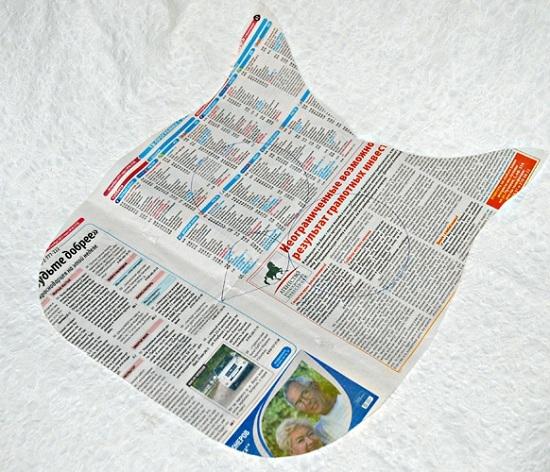 Вырежем выкройку из бумаги