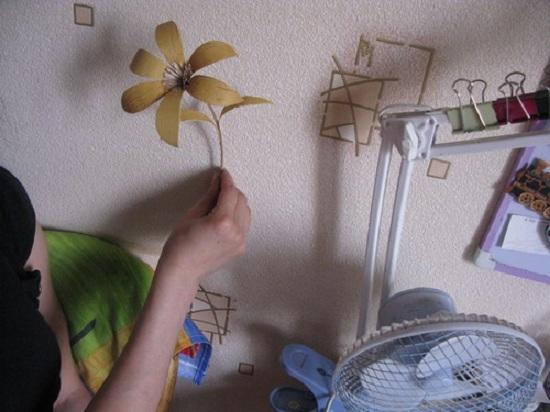 Букет из берестяных цветов
