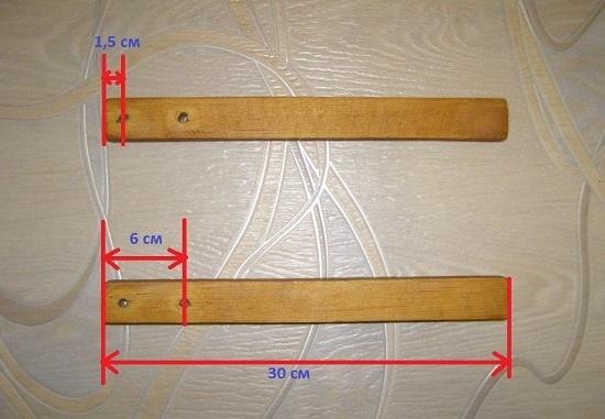 сделаем отверстия для винтов диаметром в 5 мм