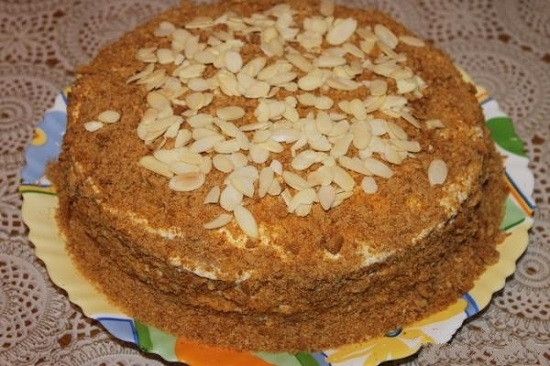 Рецепт торта рыжик в домашних условиях пошагово со сметанным