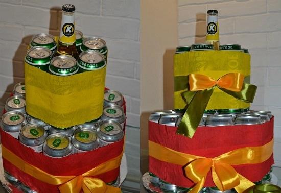 как сделать торт из пива своими руками