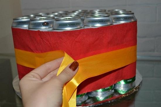 f4a2b6e7488d79d85becfdd702dad1b6 Фото торт из банок пива – Торт из банок пива своими руками. Как сделать торт из пива для мужчины — фото пошагово