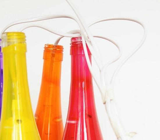 люстра из стеклянных бутылок своими руками