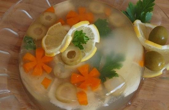 Заливное из судака с желатином: пошаговый рецепт
