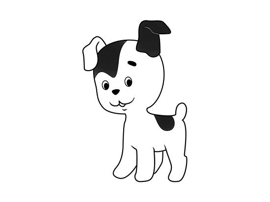 как нарисовать щенка карандашом поэтапно для детей
