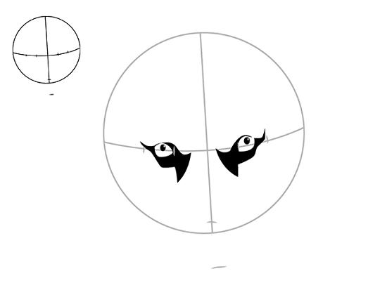 Начинаем рисовать глазки