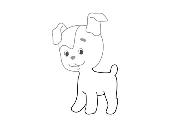 Рисуем туловище собачки и лапки