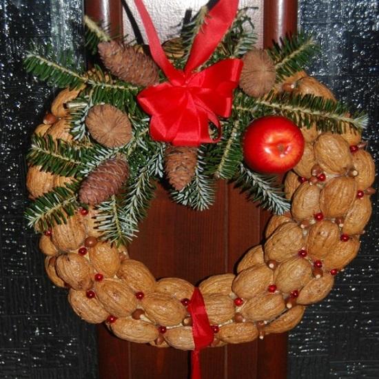 поделки из скорлупы грецкого ореха своими руками - венок