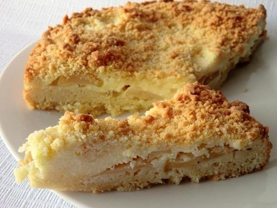 Пирог без яиц с творогом рецепт с пошагово