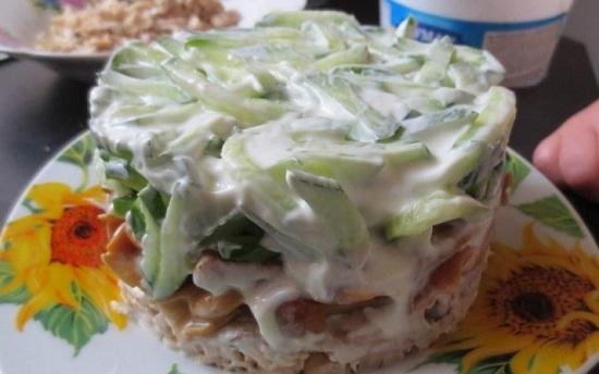 рецепт салата лисичка с фото