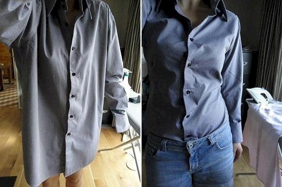 Блузка своими руками легко и быстро из рубашки