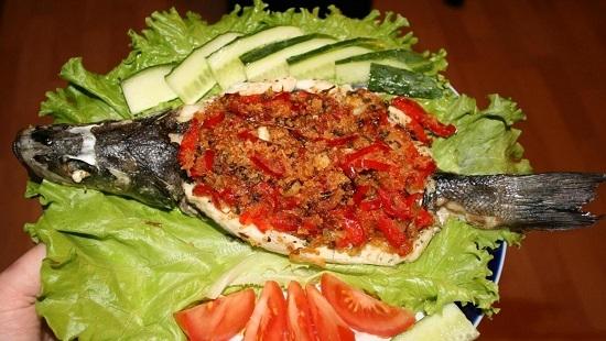 приготовить сибаса с овощами в духовке в фольге