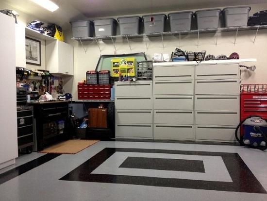 обустройство гаража внутри