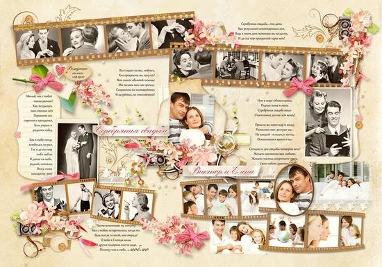 годовщина свадьбы, плакат, сделанный своими руками