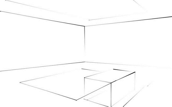 Как нарисовать комнату с мебелью карандашом?