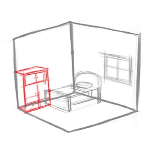 Как нарисовать письменный стол поэтапно карандашом