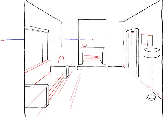 Рисуем дизайн комнаты в перспективе